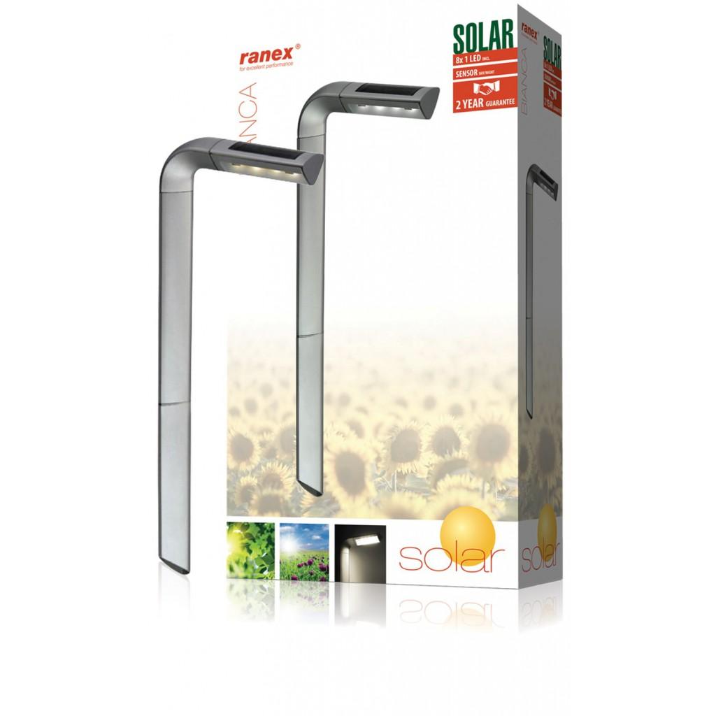 Clairage ext rieur solaire led en plastique for Eclairage exterieur solaire