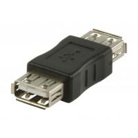 Adaptateur USB 2.0 Une Femelle - Une Femelle Noir