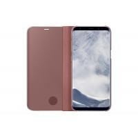 Etui à rabat Clear View Cover Samsung EF-ZG955CP rose pour Galaxy S8 + G955