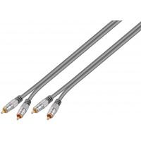 câble audio stéréo 2x prise RCA