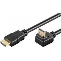 Câble HDMI High Speed avec Ethernet 2m coudé noir