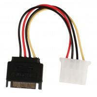 Câble d'alimentation interne SATA mâle à 15 broches - Molex Femelle 0.15 m