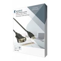 Convertisseur USB A Mâle - RS232 Noir
