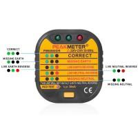 Testeur de prises de courant Test polarit e Test automatique Détecteur RCD Fonction Test Cablage erreur Safety