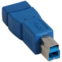 Adaptateur InLine® USB 3.0 de type A femelle à type B mâle