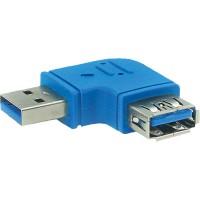 Adaptateur InLine® USB 3.0 Type A mâle à A femelle coudé à 90 °