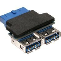 Adaptateur InLine® USB 3.0 interne 2x USB Une tête femelle vers la carte mère