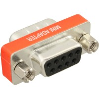 Adaptateur null modem, InLine®, 9 broches mâle/fem.