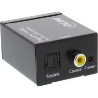 InLine® Audio Converter Entrée numérique vers analogique Sortie Toslink ou RCA 2x stéréo RCA