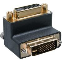 InLine® DVI-I Adaptateur numérique à angle de 90 ° + analogique 24 + 5 mâle à femelle noir
