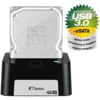 Station d'accueil USB 3.0 et eSATA vers SATA, Fantec MR-U3e DOCKING STATION noir