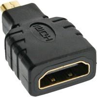 Adaptateur InLine® HDMI HDMI A femelle à HDMI D mâle plaqué or