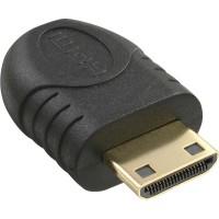 Adaptateur InLine® HDMI de type C mâle à type D femelle plaqué or