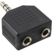 Adaptateur audio, InLine®, 3,5mm jack mâle à 2x 3,5mm jack Bu, Stéréo