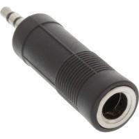 Adaptateur audio, InLine®, 3,5mm jack Stéréo à 6,3mm jack femelle Stéréo