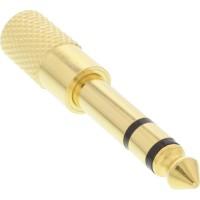 Adaptateur audio InLine® 6.3mm mâle à 3.5mm femelle Stéréo métal doré