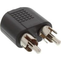 Adaptateur audio, InLine®, 3,5mm jack femelle Stéréo à 2x connecteur Cinch