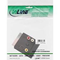 Adaptateur S-VHS/Scart, InLine®, Scart mâle/fem. à 3x Cinch fem. et 1x S-VHS Bu