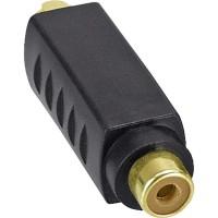 Adaptateur S-VHS actif, InLine®, 4 broches Mini DIN prise à connecteur Cinch femelle, connecteurs dorés