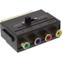 Adaptateur Scart, Scart prise à 4x Cinch fem. (RGB+Composite)