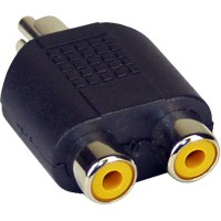 Adaptateur audio, InLine®, Cinch mâle à 2x connecteur Cinch femelle