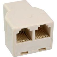 Distributeur modulaire, InLine®, 1x RJ12 prise femelle sur 2x RJ12 prise femelle