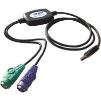 Convertisseur USB - PS / 2, Aten UC10KM, connecteur USB vers 2x prise PS / 2, 90cm