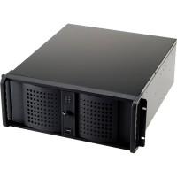 """19"""" Boîtier PC """"industrie"""" TCG-4800X07-1 4HE 528mm, noir, sans bloc d'alimentation"""