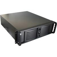 """19"""" Boîtier PC """"industrie"""" 3HE Fantec TCG-3830KX07A-1 noir, sans bloc d'alimentation"""