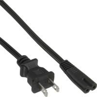 Câble réseau, InLine®, fiche de secteur USA sur Euro 8 prise femelle 1,8m