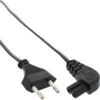 Câble d'alimentation InLine®, fiche Euro à fiche Euro8 coudée, noir, 10 m
