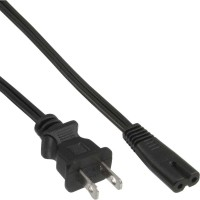 Câble d'alimentation USA, Euro8, noir, 3,0 m