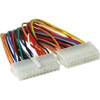 Adaptateur d'électricité interne, InLine®, 20 broches ATX bloc d'alimentation - 24 broches EPS12V carte mère, 16cm