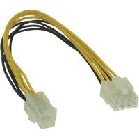 Adaptateur d'électricité interne, InLine®, 4 broches ATX1.3 bloc d'alimentation - 8 broches ATX2.0 carte mère, 20cm