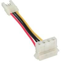 Disquette interne InLine® Power Adapter femelle vers Molex 4 broches mâle 6cm