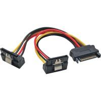 Câble électrique en Y SATA, InLine®, SATA fem. à 2x SATA mâle plié, 0,15m