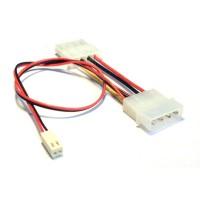 Câble adaptateur carte mère , InLine®, 2 broches Molex prise femelle an, double prise Y, longueur 30cm
