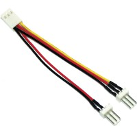 Câble adaptateur ventilateur, InLine®, 3-pin Molex fem. à 2x 3-pin prise Molex
