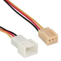 Rallonge pour câble ventilateur, InLine®, 3 broches Molex mâle/fem., longueur 60cm