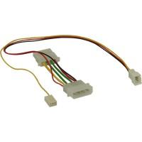 Câble adaptateur ventilateur, InLine®, 12V -- 7V, avec signal tachymètre