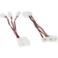 Câble adaptateur ventilateur, InLine®, 12V -- 5V, pour 3 ventilateur