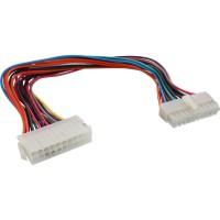 Rallonge câble électrique interne, InLine®, 20 broches mâle/fem., bloc d'alimentation - carte mère, 30cm
