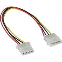 """Rallonge câble électrique interne, InLine®, 5,25"""" 4 broches mâle/fem. 0,3m"""