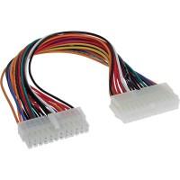 Rallonge câble électrique interne, InLine®, 24 broches mâle/fem., bloc d'alimentation - carte mère, 30cm