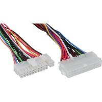 Rallonge de câble d'alimentation InLine® ATX 24 broches femelle à 20 + 4 broches mâle 45cm