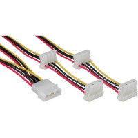 InLine® Internal Power 1x Molex 4 broches à 4x Molex 0,45m + 0,55m