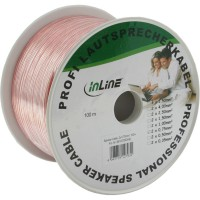 Câble haut-parleurs, InLine®, 2x 0,75mm², CCA, transparent, 100m