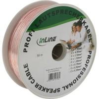 Câble haut-parleurs, InLine®, 2x 0,75mm², CCA, transparent, 50m