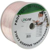 Câble haut-parleurs, InLine®, 2x 2,5mm², CCA, transparent, 100m