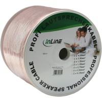Câble haut-parleurs, InLine®, 2x 4mm², CCA, transparent, 25m